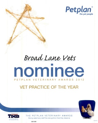 PetPlan Practice Of The Year 2012
