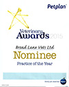 Broad Lane - Pet Plan Practice Of The Year Awards