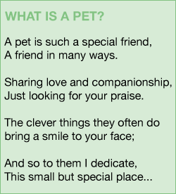 What is a pet poem